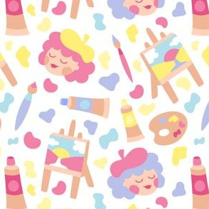 Painter Girls Soft Colors