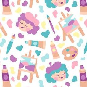 Painter Girls Purple Green
