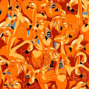 Orange flamingo camouflage