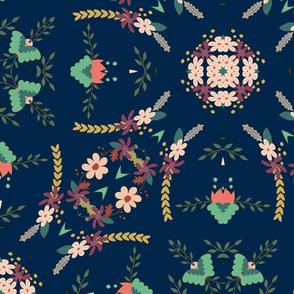 Darling Florist - Navy