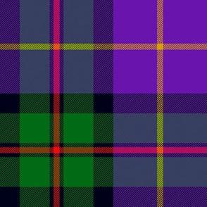 "MacLeod of Assynt tartan, green/purple variant, 8"""