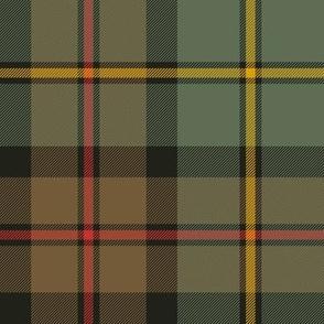 "MacLeod of Harris, or MacLeod Green or Hunting tartan, 8"", weathered"