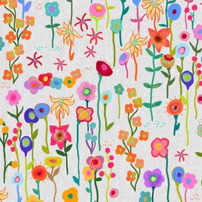 saturday in the flower garden