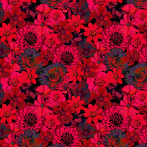 rich red floral