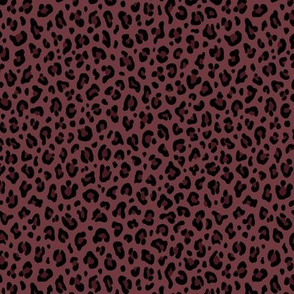 ★ LEOPARD PRINT in DARK BURGUNDY ★ Tiny Scale / Collection : Leopard Spots – Punk Rock Animal Prints