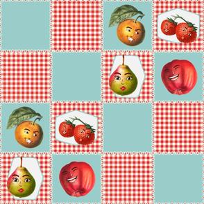 Fruit Cocktail - Kitsch Cheater Quilt