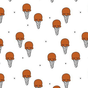 Sweet summer ice cream popsicle sugar pastel rust copper kawaii illustration