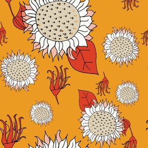 Illustrated Flora and Fauna - Sunflower Yellow
