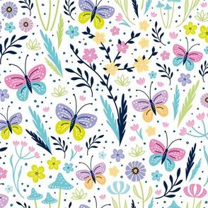 springtime flora & fauna doodle small