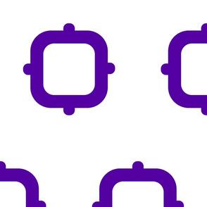 Squares & Knobs - Purple & White - Large