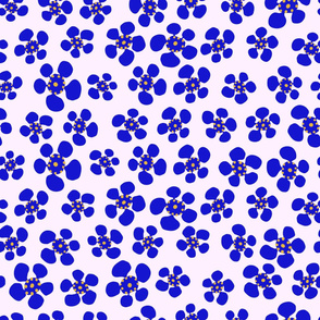 Australian Wax Flower - Royal Blue - Large Scale
