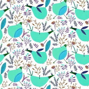 Funny Birds - Medium Aqua