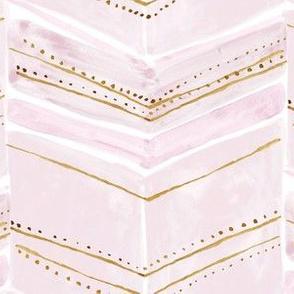 chevron fringe - pink