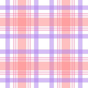 Happy Plaid 4in-Tippy Toes Pink