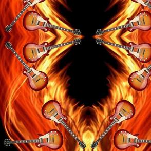Guitars_Flames_10.5x13.5 Mirror