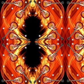 Guitars_Flames_Stars_7x9 Mirror