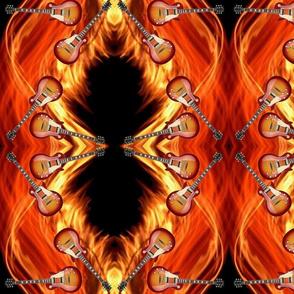 Guitars_Flames_7x9 Mirror