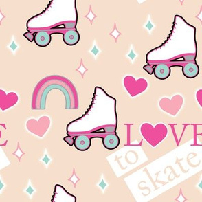 Love to Roller Skate Retro Style