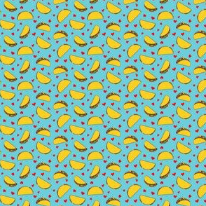 (micro scale) I love tacos - blue - Taco Valentine - Valentine's Day - C20BS