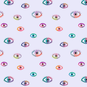 Watercolor eyes blue background