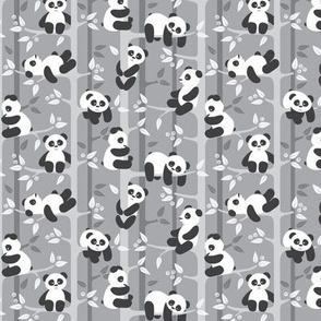 panda forest - gray - small