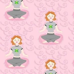 Meditate / Yoga Pants Pink / Affirmations