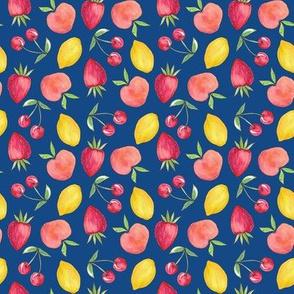 Feeling Fruity Print | Classic Blue