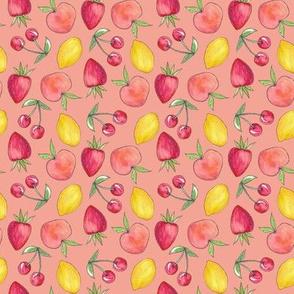 Feeling Fruity Print | Coral