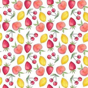 Feeling Fruity Print | White