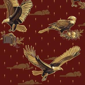 Eagle: Soaring Through Life   Deep Cranberry #440f0c