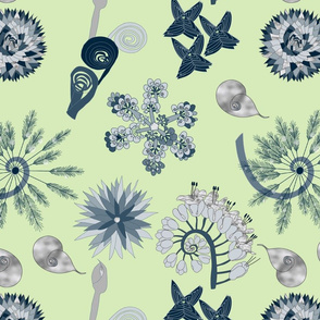 Fractal Nature in Navy Mint