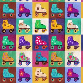 pop art roller skates