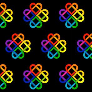 Rainbow Heart Knot