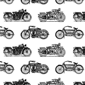 Antique Motorcycles (Small Print Size)