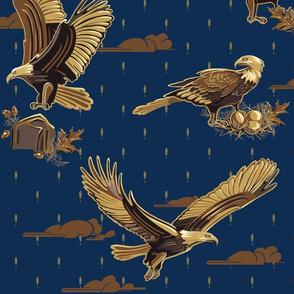 Eagles Soaring Through Life   Midnight Blue