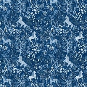 Moonlit Unicorns in the Woods of Wonderment (teeny tiny scale)