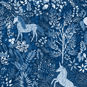 Moonlit Unicorns in the Woods of Wonderment (jumbo scale)