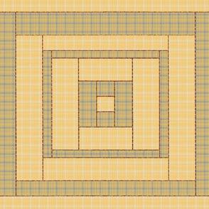 Quilt Block of Yellow Plaids