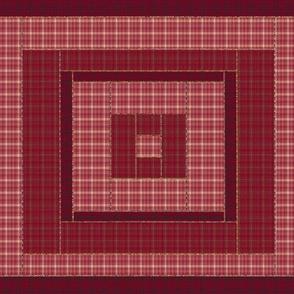 Quilt Block of Red Plaids