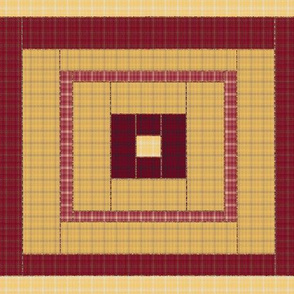 Red and Yellow Quilt Block