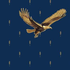 "21"" Eagle Soaring   Deep Navy Blue"