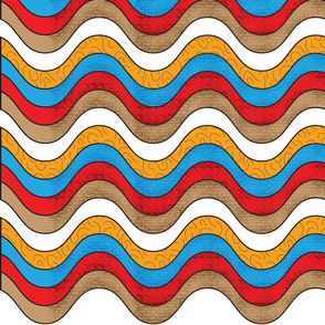 colour zig zag patterns
