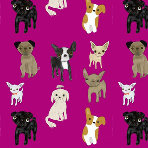 Pink dog wallpaper