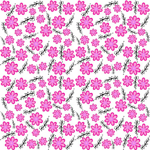 Pink Spring White  Small