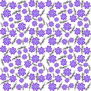 Purple Spring White Small