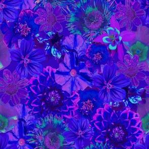 rich blue floral