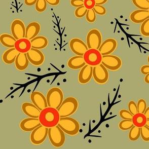 Yellow Orange Spring Green