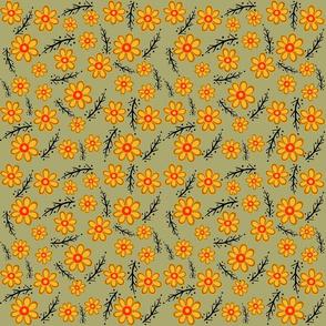 Yellow Orange Spring Green Small