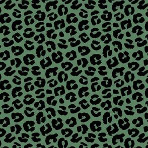 Chunky fat leopard print animals fur modern Scandinavian style raw brush  abstract trend cameo green