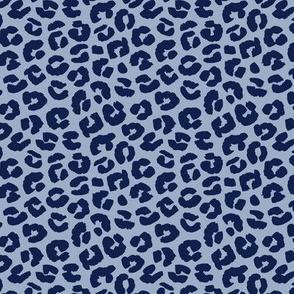 Chunky fat leopard print animals fur modern Scandinavian style raw brush  abstract trend blue navy